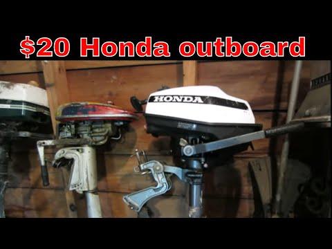Will it Run? Garage sale Honda outboard,