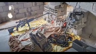Sniper's day in battle of Raqqa - Syria Combat Footage