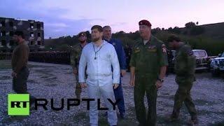 رئيس الشيشان يشرف على تدريبات عسكرية (فيديو)