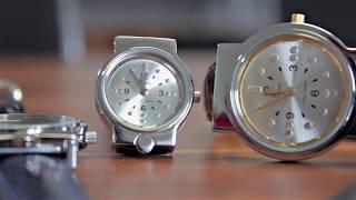 Produktvideo zu Taktile Armbanduhr Leder Schwarz