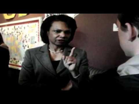 Student vs Condoleezza Rice
