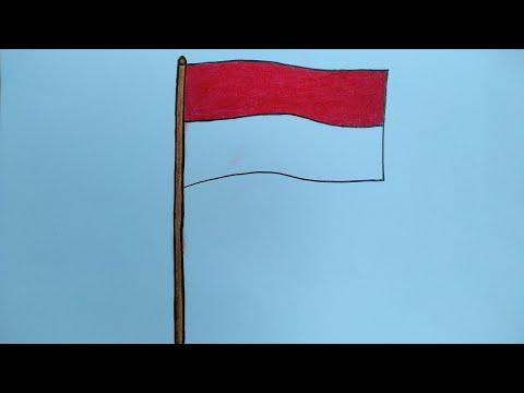 menggambar bendera merah putih cara menggambar dan mewarnai bendera youtube menggambar bendera merah putih cara