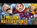 Platinum AP TOP LANE NUNU 1,700,000 MASTERY POINTS- Spectate Highest Mastery Points on Nunu