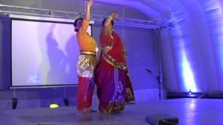 Priyadarshinee Awatramani & Sukalpita Rao Dance at Botswana Durga Puja 2014 - Madhuban mein kanhaiya