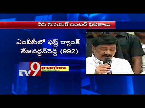 AP Intermediate second year results by Ghanta Srinivas Rao  TV9