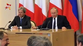 Лавров смеется над шуткой Путина про выговор ему и секреты Трампа