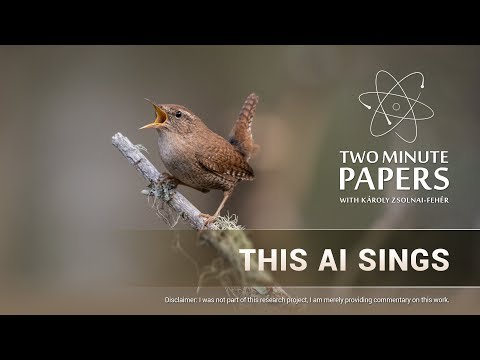 This AI Sings | Two Minute Papers #230