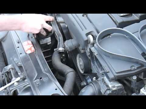 Changing M271 serpentine belt