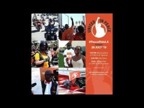76th Peace Ride, LA @ Athens Park W/ Stu Min Abdul Malik Sayyid (Tony)  Muhammad