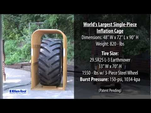 HUGE TIRE EXPLOSION: Ken-Tool Introduces the World's Largest Single-Piece Tire Inflation Cage