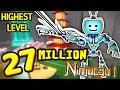 Roblox NINJA ASSASSIN Simulator 27 MILLION NINJUTSU Ninja Duels Highest Level Weapons Powers mp3