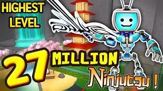 Roblox NINJA ASSASSIN Simulator 27+ MILLION NINJUTSU - Ninja Duels (Highest Level Weapons & Powers)