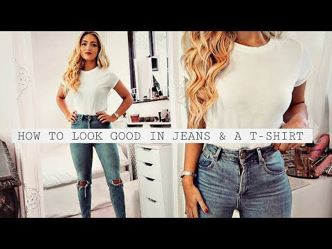 How to look GOOD in just JEANS & A T-SHIRT HACKS!. http://bit.ly/2zwnQ1x