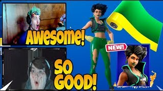 Streamers React To *NEW* LIMELIGHT Skin & ZESTY Wrap In the Shop! | Fortnite Highlights!