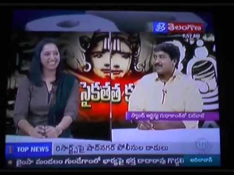 Sudhakanth sand art artist,Interview held at TV1 Jai Telangana,02-05-2015..