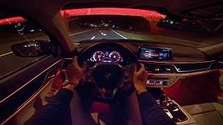 2019 BMW 7 Series 4K NIGHT DRIVE POV & AMBIENT LIGHTING by AutoTopNL