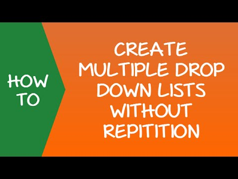 how to create multiple drop down list in excel
