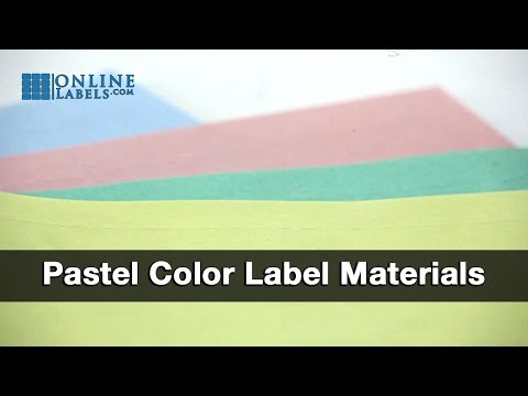 Pastel label color materials fanned out