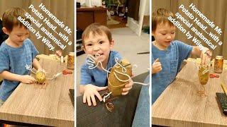 Toddler Creates A Naughty Potato Man