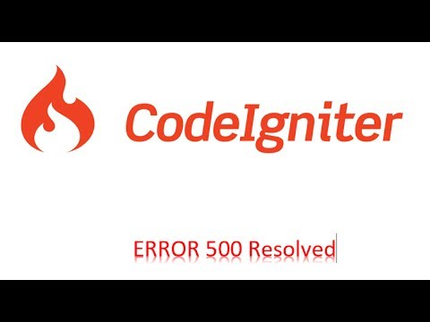 PHP codeigniter HTTP Error 500 - Fixed