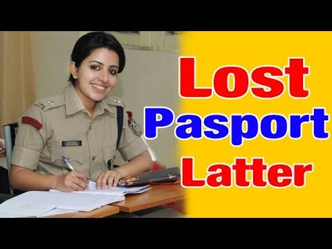 Police Report Application Letter For Passport Lost
