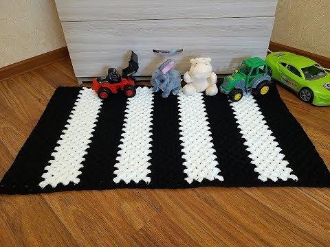 Как научиться вязать коврик крючком видео