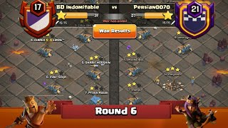 Clan War Leagues - TH12 Attacks - Clash Of Clans - Round 6 (Season 2)