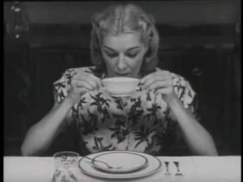 "Emily Post: ""Table Manners"" (1947)"