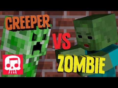 Minecraft Rap Battle - Creeper vs. Zombie ANIMATED [JT Machinima and Brysi]