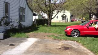 Rolling my yard with a Mercedes