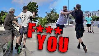 SUPER ANGRY SKATER vs SCOOTER SKATE PARK FIGHT