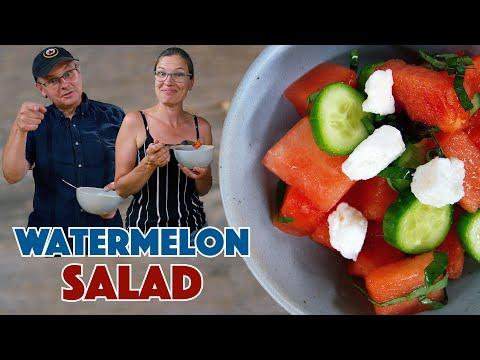 Watermelon Cucumber Mint Feta Salad Recipe