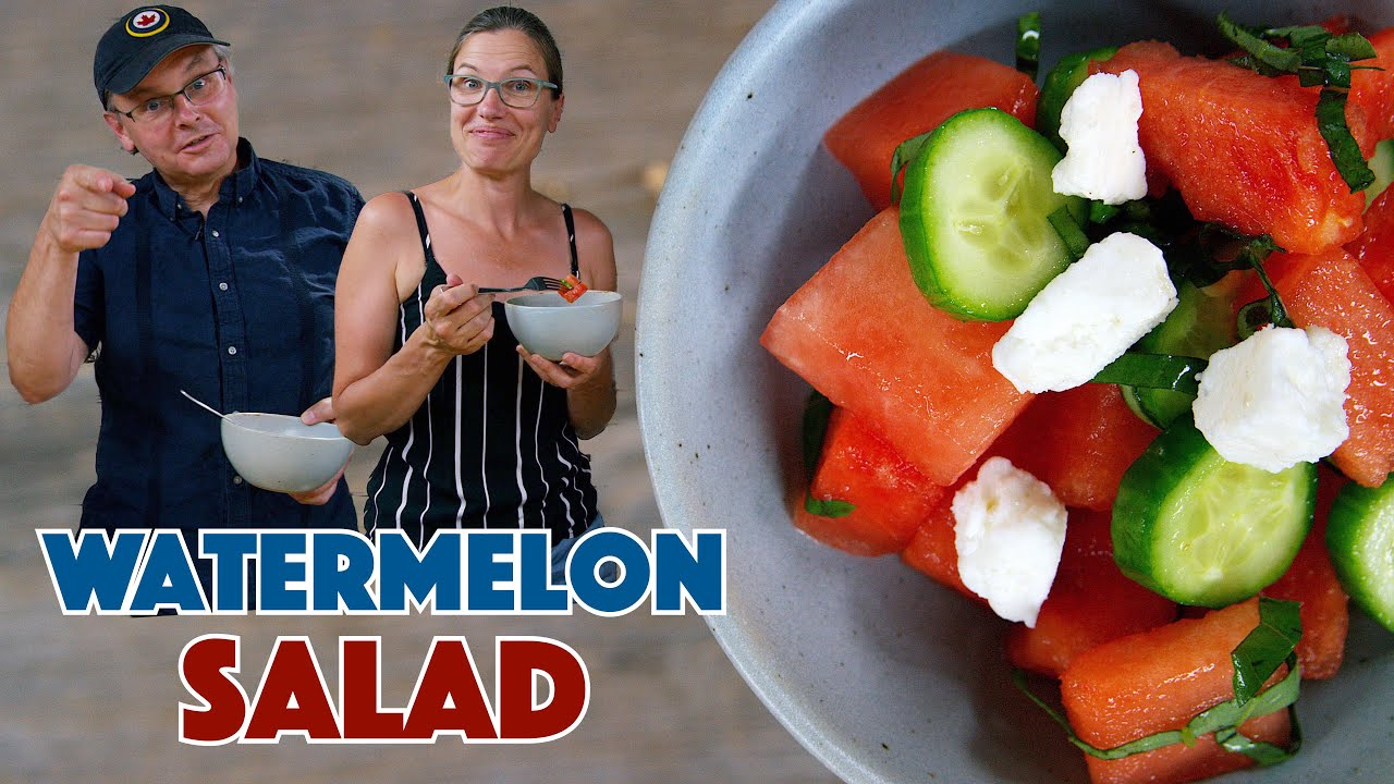 Download Watermelon Cucumber Mint Feta Salad Recipe
