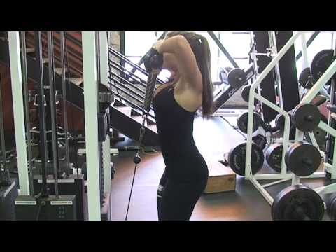 shoulder exercise superset on cable machine  fitness