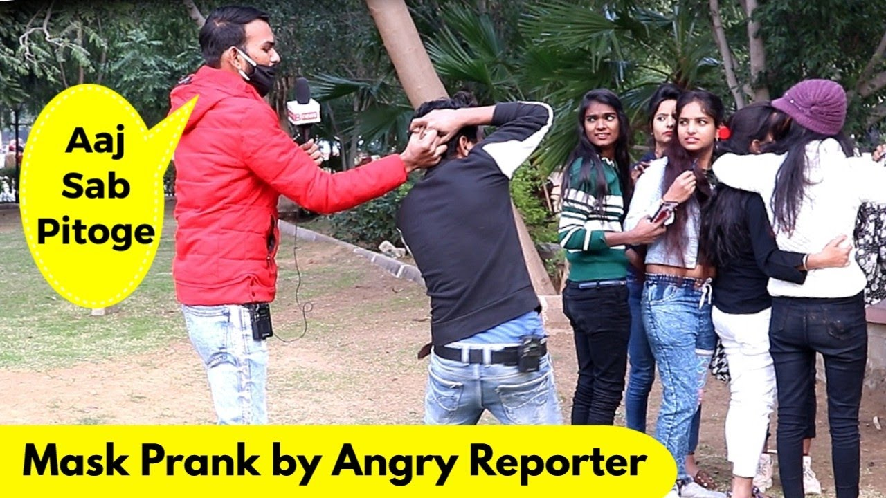 Mask Prank by Angry Reporter | Prank Rush | Pranks in India