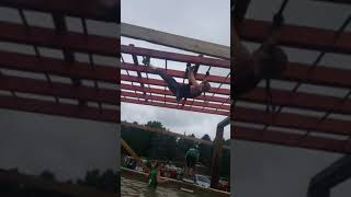 "Jen ""masters"" the monkey bars - Terrain Race, July 14, 2018"