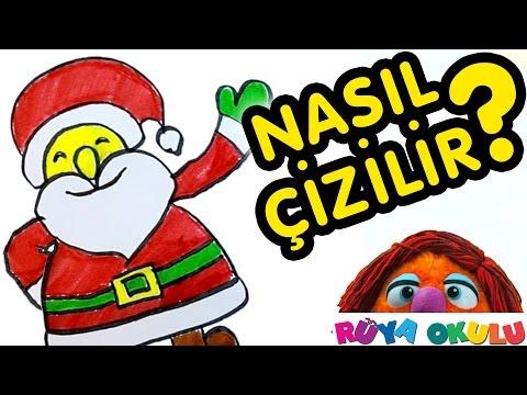 Nasıl Çizilir? - Noel Baba - Yeni Yıl - Çocuklar İçin Resim Çizme - RÜYA OKULU