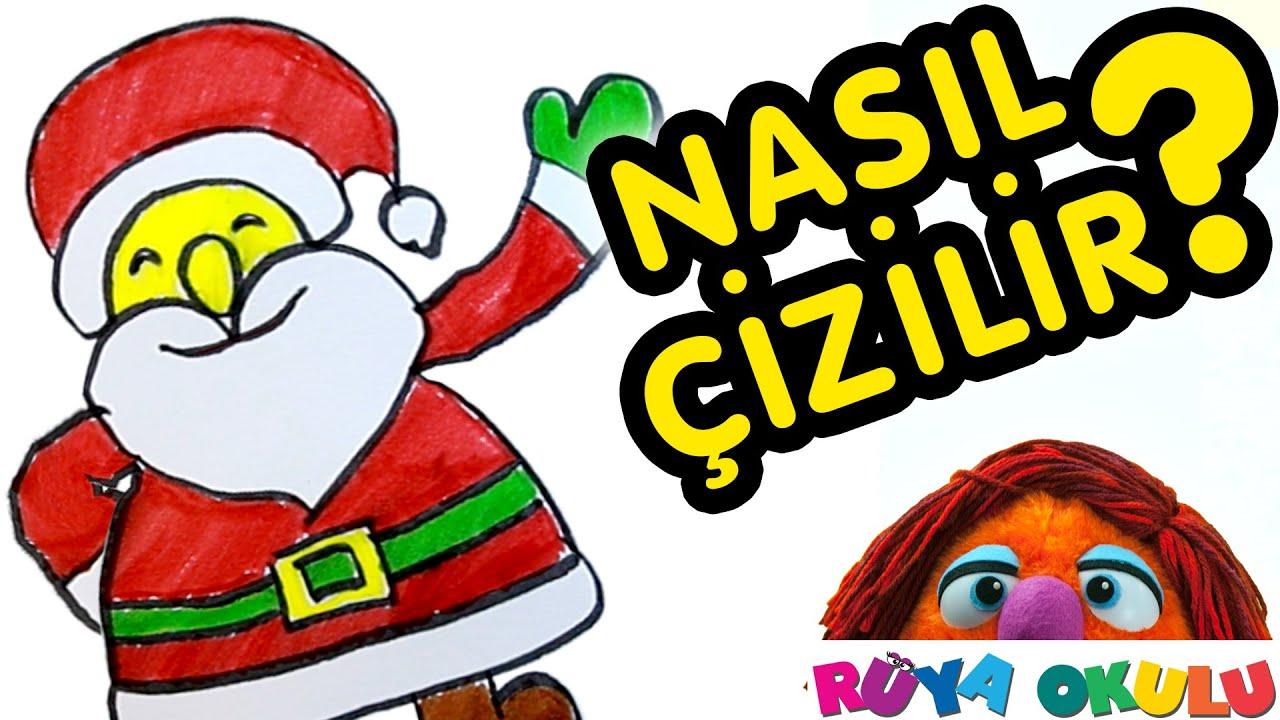 Nasil Cizilir Noel Baba Yeni Yil Cocuklar Icin Resim Cizme