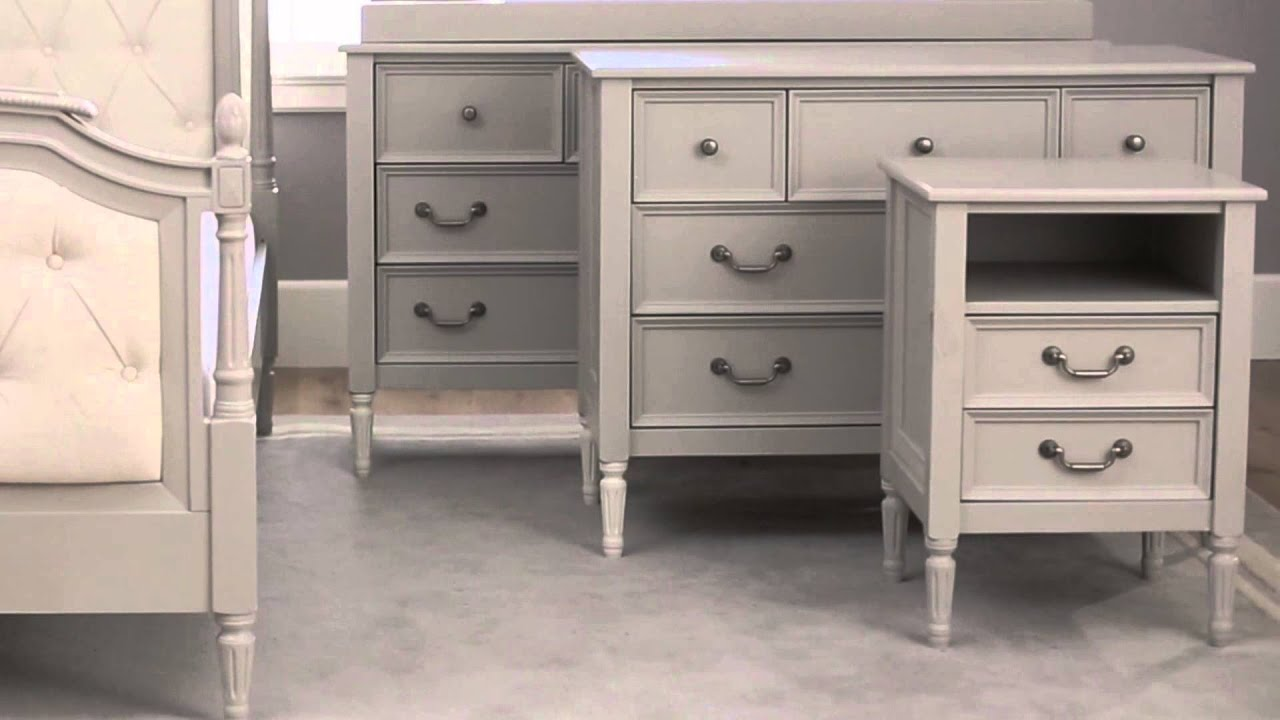 Blythe collection elegant nursery furniture pottery for Elegant white bedroom furniture