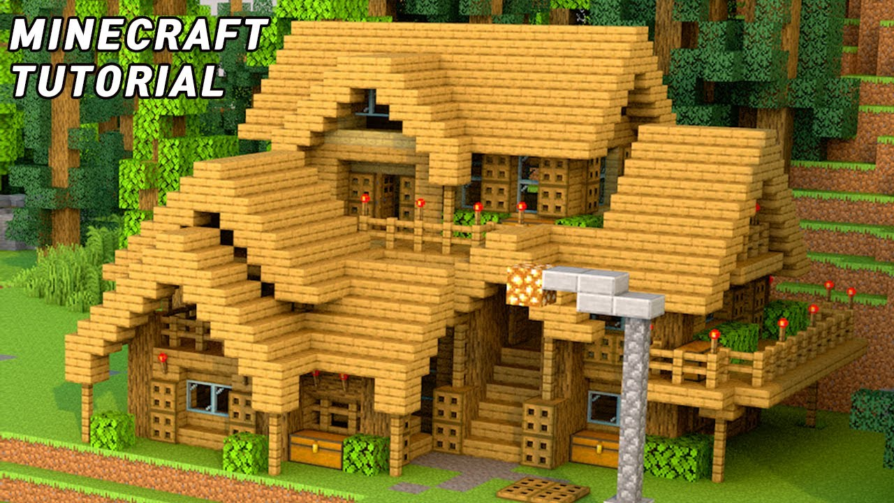 How To Build A House In Minecraft - Forest House Tutorial    Easy Minecraft     20