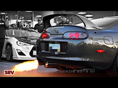 FIRE SPITTING Toyota Supra TURBO Sets Off Car Alarms