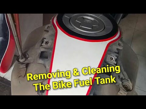 Removing & Cleaning The Bike Fuel Tank