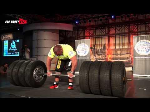 FIBO Strongman ClassX 2014 - DEADLIFT for reps 350 kg (770 lb)