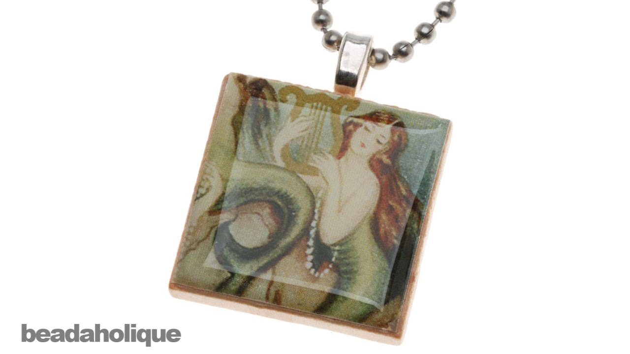 How to make a scrabble tile pendant youtube aloadofball Image collections