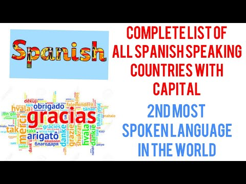 list of spanish speaking countries and capitals with continents