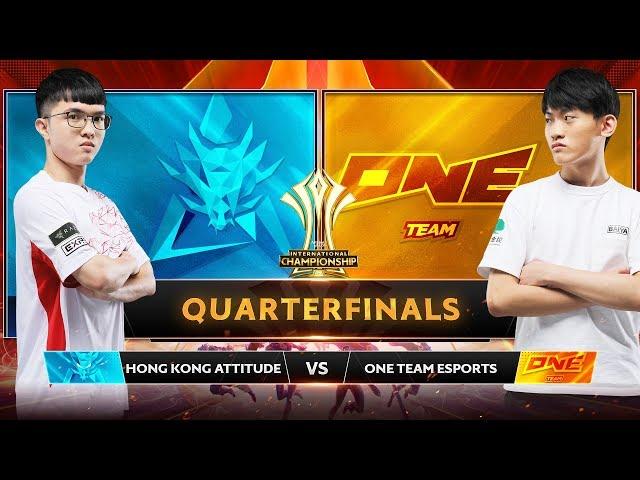 TRỰC TIẾP: HONGKONG ATTITUDE vs ONE TEAM - Tứ Kết AIC 2019 - Garena Liên Quân Mobile