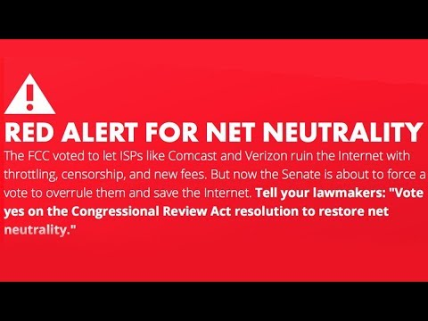 'Red Alert' Campaign for Net Neutrality