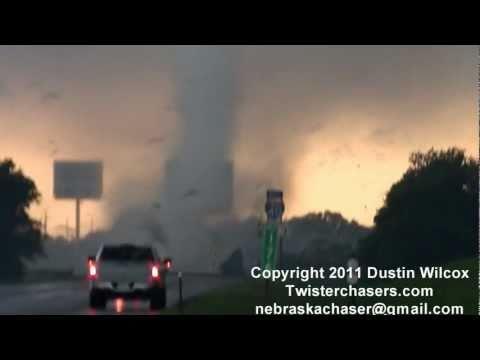 May 24th 2011 Shawnee Oklahoma Tornado Semi Tossed on I-40