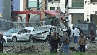 Raw: Explosion Near Bus Terminal in Turkey