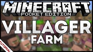 HOW TO MAKE VILLAGER FARM IN MINECRAFT PE